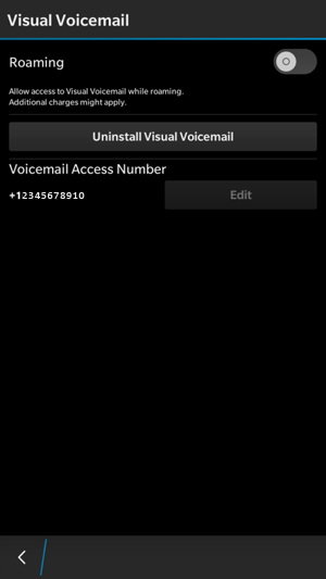 Switching from BlackBerry Visual Voicemail