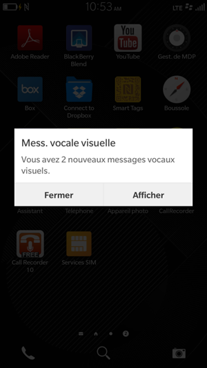 Messagerie vocale visuelle pour BlackBerry