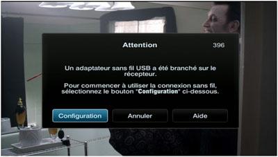Configuration de l'adaptateur Wi-Fi