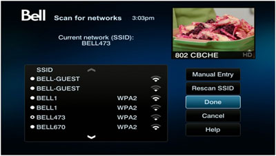 Your receiver will scan for nearby Wi-Fi networks