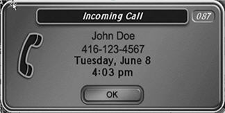 different Caller ID pop-up