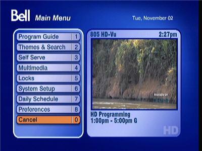 Press the MENU button on your remote control