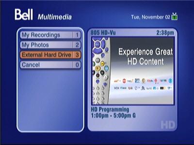 Press 4 or select Multimedia from the Main Menu screen