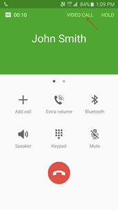 voice call screen