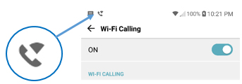 Android Wi-Fi Calling indicator
